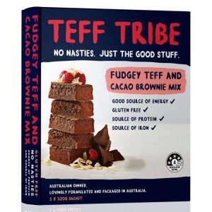 Nadia Coetzee - Nutritionist - Root Your Health - Perth - Shop - FUDGEY TEFF & CACAO BROWNIE MIX