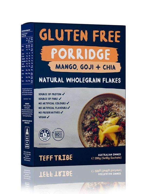 Nadia Coetzee - Nutritionist - Root Your Health - Perth - Shop - TEFF Mango Goji and Chia Porridge