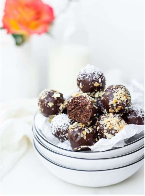 Recipes with Nadia Coetzee - Nutritionist - Root Your Health Perth Cocoa Coconut Bliss Balls