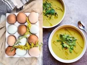 Recipes with Nadia Coetzee - Nutritionist - Root Your Health Perth Pea soup and eggs