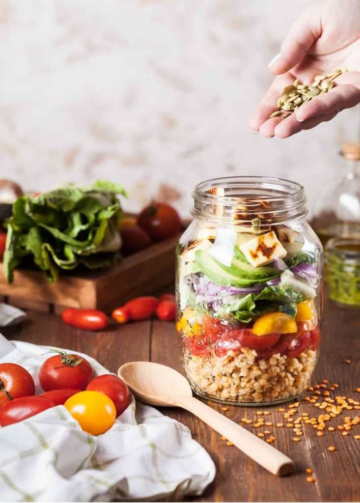 Recipes with Nadia Coetzee - Nutritionist - Root Your Health Perth Summer Salad Jars