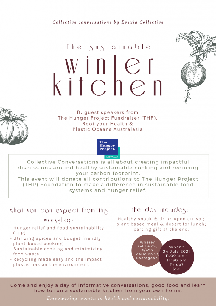 Nadia Coetzee - Nutritionist - Root Your Health - Perth - The Hunger Project Fundraiser