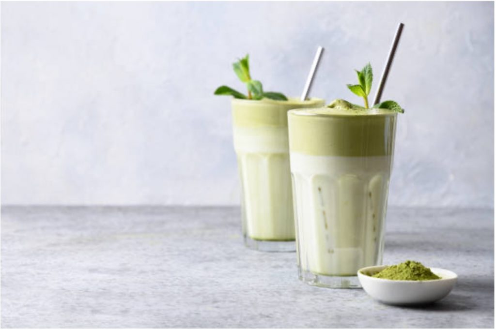 Nadia Coetzee - Nutritionist - Root Your Health - Perth - Iced Green Matcha Mint Latte